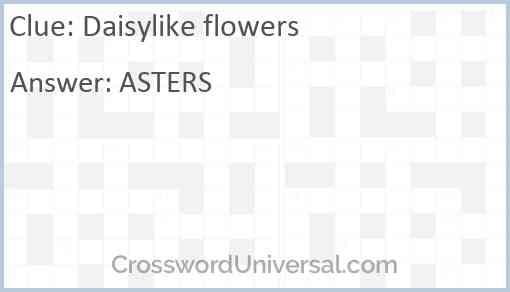 Daisylike flowers Answer