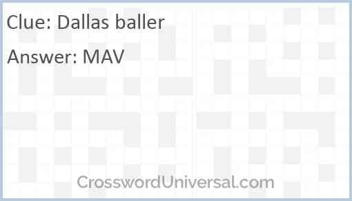Dallas baller Answer