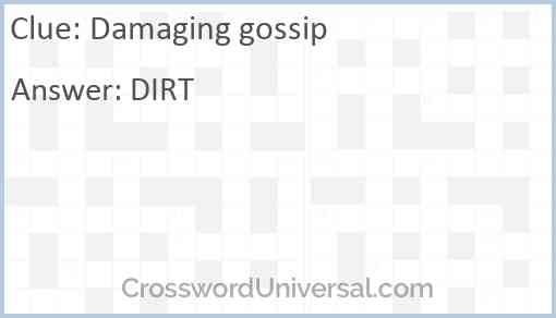 Damaging gossip Answer