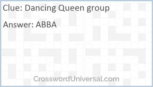 Dancing Queen group Answer