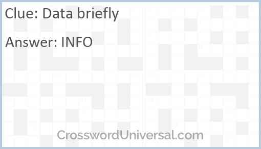 Data briefly Answer