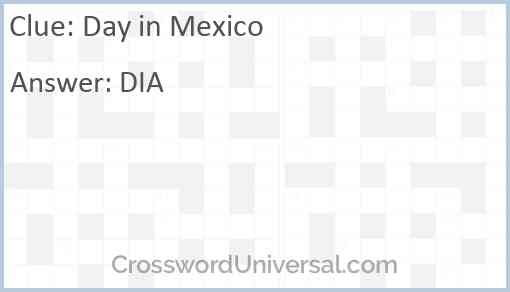 Day in Mexico Answer