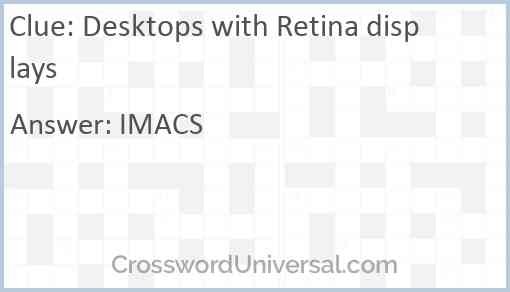 Desktops with Retina displays Answer