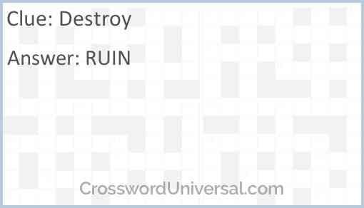 Destroy Answer