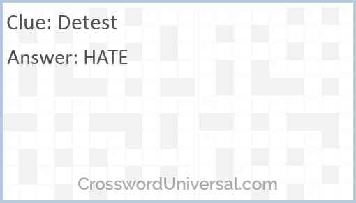 Detest Answer