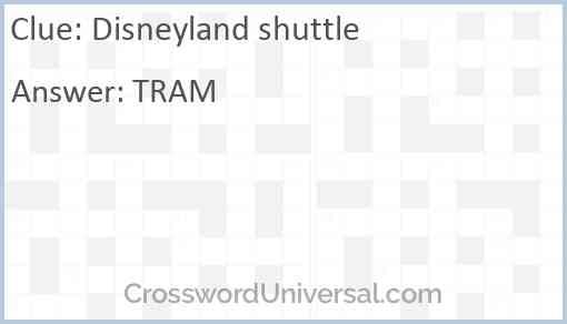 Disneyland shuttle Answer