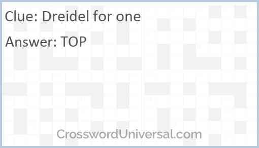 Dreidel for one Answer