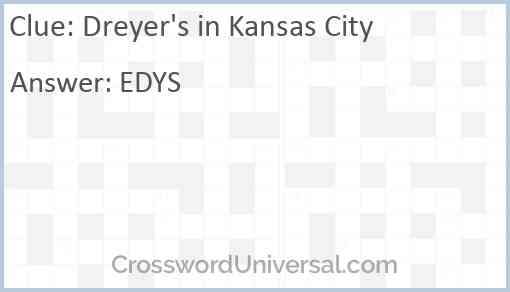 Dreyer's in Kansas City Answer