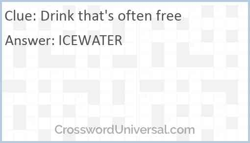 Drink that's often free Answer