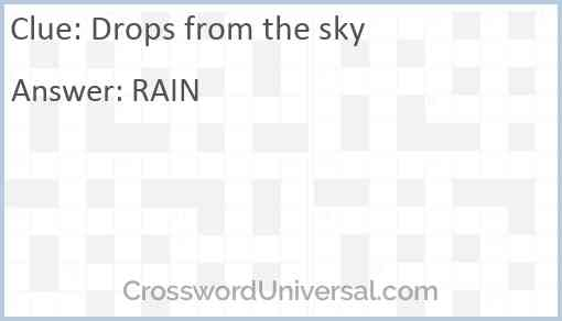 Drops from the sky Answer