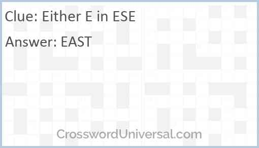 Either E in ESE Answer