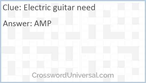 Electric guitar need Answer