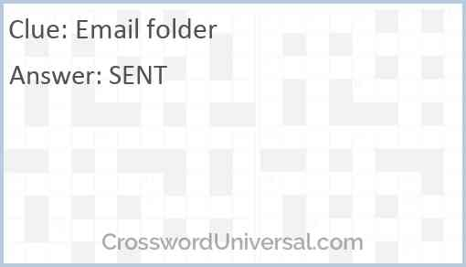 Email folder Answer