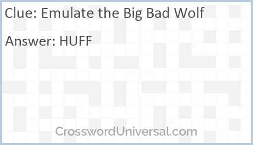 Emulate the Big Bad Wolf Answer