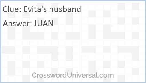 Evita's husband Answer
