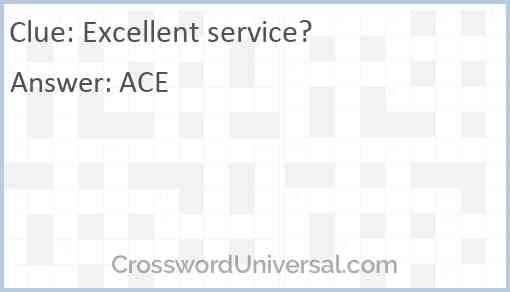 Excellent service? Answer