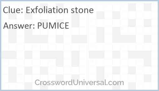 Exfoliation stone Answer