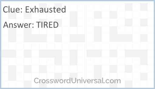 Exhausted Answer