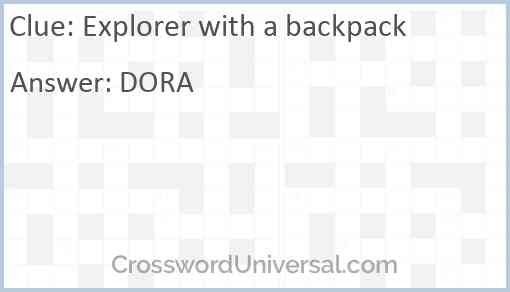 Explorer with a backpack Answer