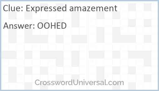 Expressed amazement Answer
