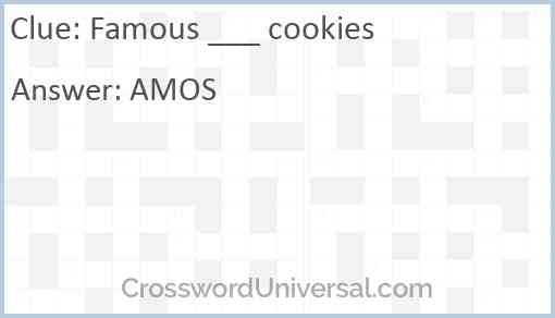 Famous ___ cookies Answer