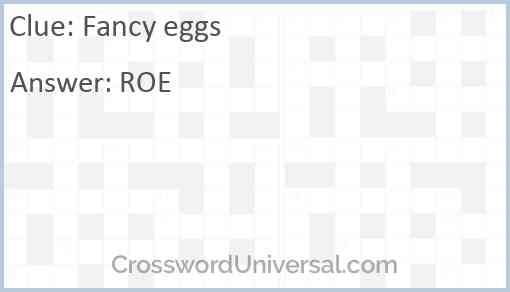 Fancy eggs Answer