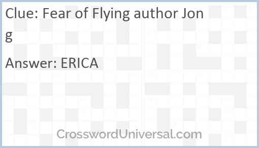 Fear of Flying author Jong Answer