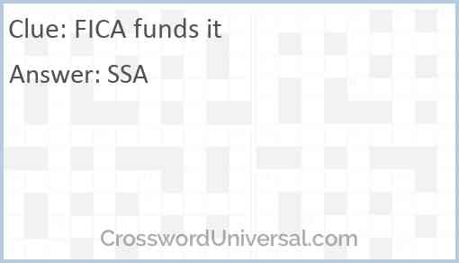 FICA funds it Answer