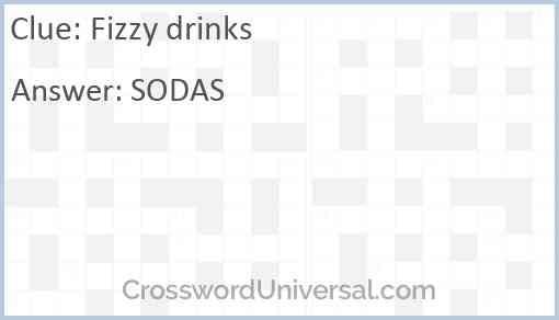 Fizzy drinks Answer