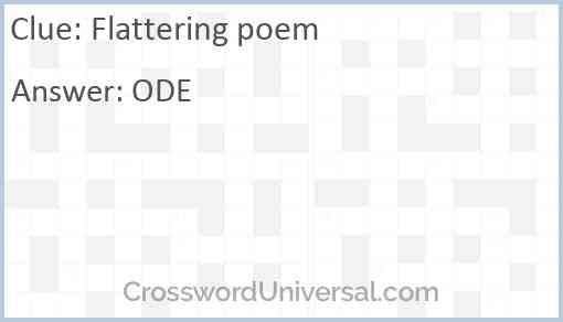 Flattering poem Answer