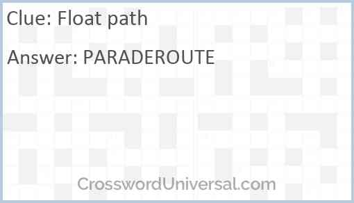 Float path Answer