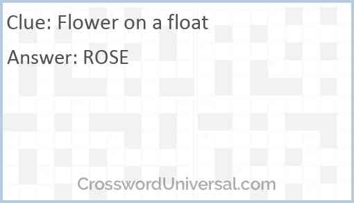 Flower on a float Answer