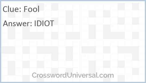 Fool Answer