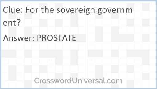 For the sovereign government? Answer