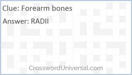 Forearm bones Answer