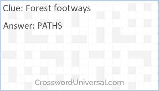 Forest footways Answer