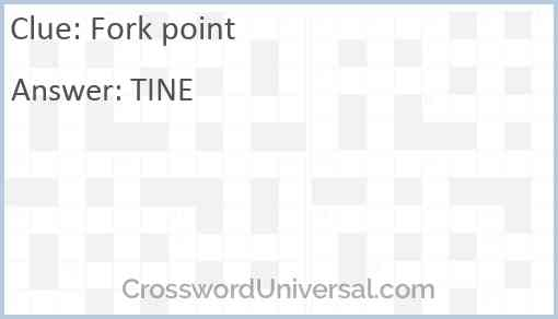Fork point Answer