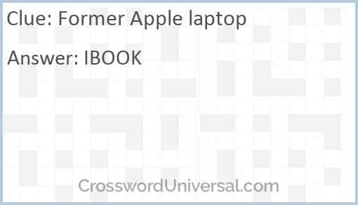 Former Apple laptop Answer