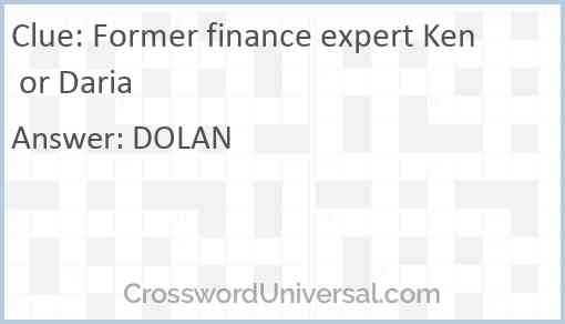 Former finance expert Ken or Daria Answer