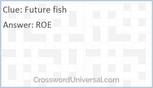 Future fish Answer