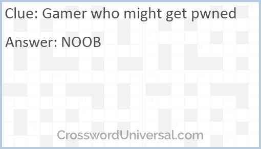Gamer who might get pwned Answer