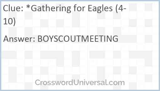 *Gathering for Eagles (4-10) Answer