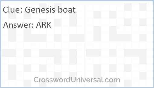 Genesis boat Answer