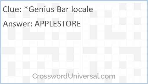 *Genius Bar locale Answer