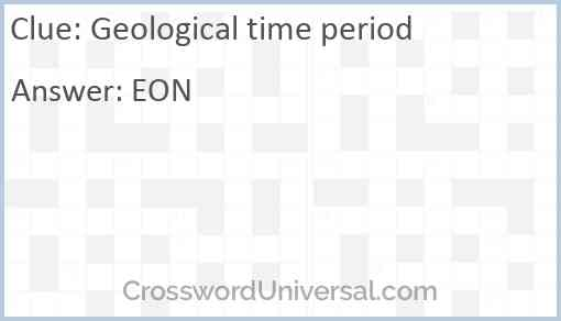 Geological time period Answer
