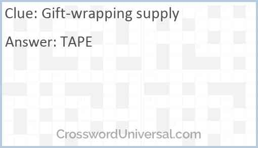 Gift-wrapping supply Answer