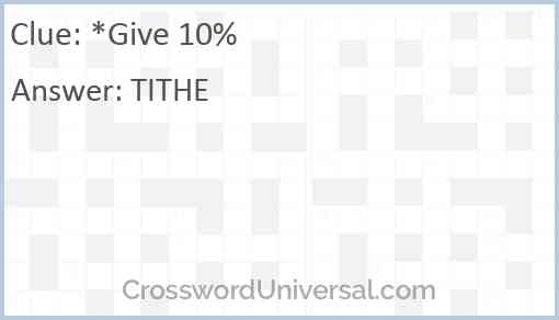 Give 10% Answer
