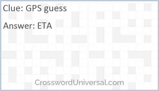 GPS guess Answer