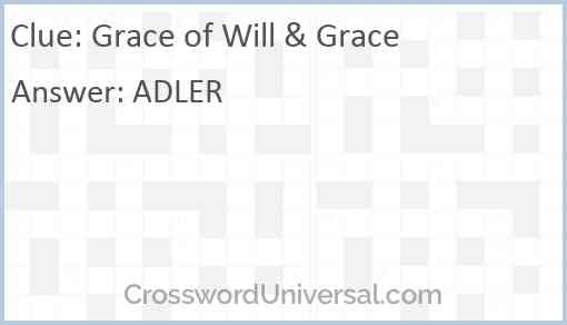 Grace of Will & Grace Answer