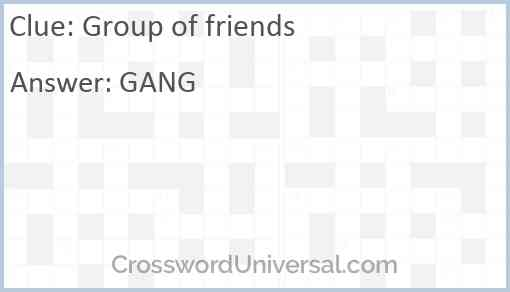 Group of friends Answer